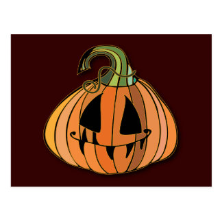 Country Jack-o-lantern Pumpkin Post Cards