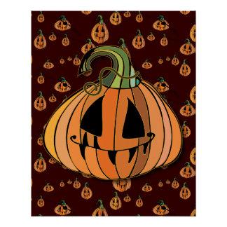 Country Jack-o-lantern Pumpkin Poster