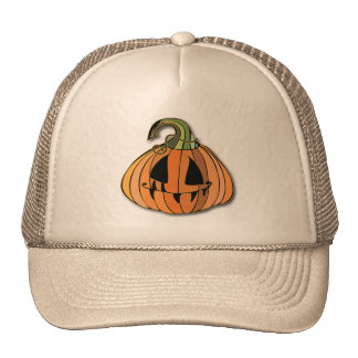 Country Jack-o-lantern Pumpkin Trucker Hat