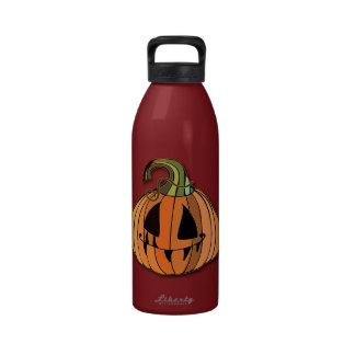 Country Jack-o-lantern Pumpkin Reusable Water Bottles