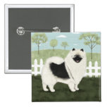 Country Keeshond Pinback Buttons