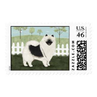 Country Keeshond Stamp