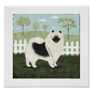 Country Keeshond Print