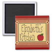 Country Kitchen Apple and Name Magnet