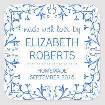 Country Kitchen Blue and White Canning Labels