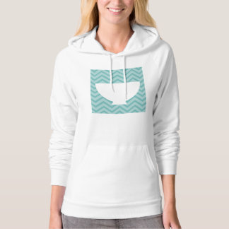 country kitchen - bowl on chevron. hoodie