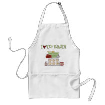 Country Kitchen Collection Love 2 Bake Fun Apron