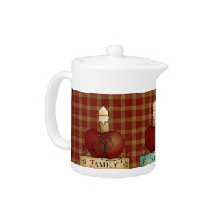 Country Kitchen Faith Family Friends Teapot