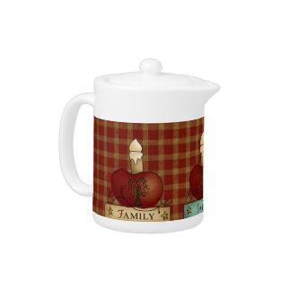 Country Kitchen Faith Family Friends Teapot