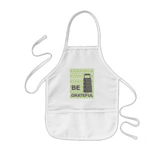 Country-Kitchen- Grater on damask floral. Kids' Apron