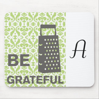 Country-Kitchen- Grater on damask floral. Mouse Pad