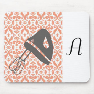 country kitchen - hand mixer on floral damask. mouse pad