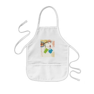 Country Kitchen- Pails and Pitcher on floral. Kids' Apron