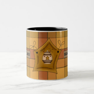 Country Kitchen  Plaid Star Bless Home Coffee Cup