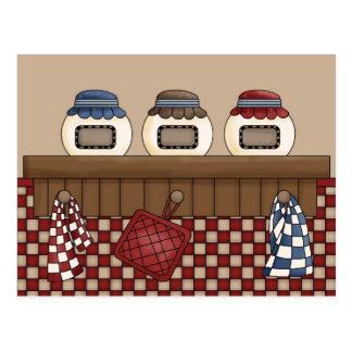 country kitchen postcard