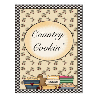 Country Kitchen Recipe Cards Postcard