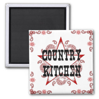 Country Kitchen Red Magnet