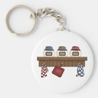 Country Kitchen Shelf Key Chains