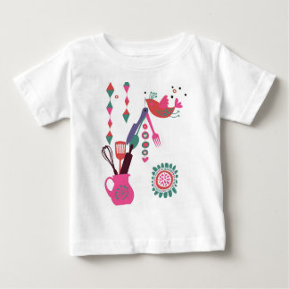 country kitchen - silverware on floral. baby T-Shirt