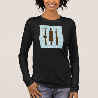 country kitchen - Silverware on floral damask. Long Sleeve T-Shirt