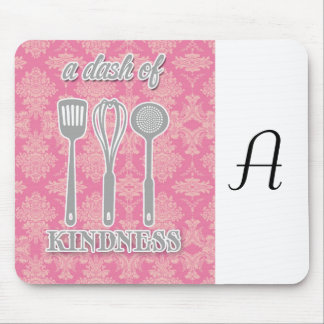 country kitchen - silverware on floral damask. mouse pad