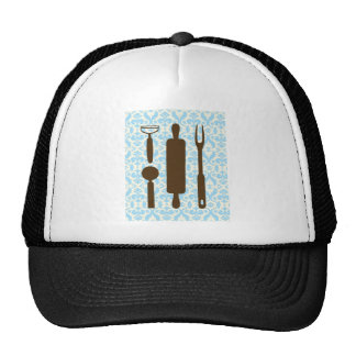 country kitchen - Silverware on floral damask. Trucker Hat
