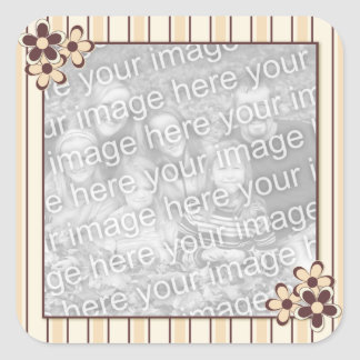 Country Kitsch Brown & Beige Frame Photo Stickers