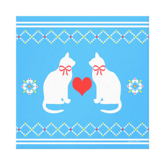 Country Kitties 2 Wrapped Canvas Print