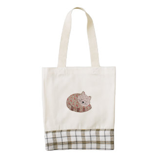 Country Kitty Zazzle HEART Tote Bag