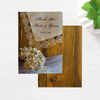 Country Lace and Flowers Wedding Favor Tags