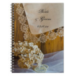 Country Lace and Flowers Wedding Spiral Notebook