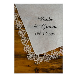 Country Lace Barn Wedding Poster