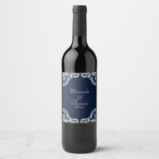Country Lace & Denim Wine Label