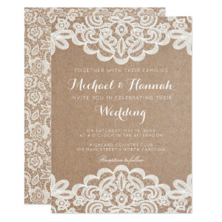 Kraft Paper Invitations Announcements Zazzle