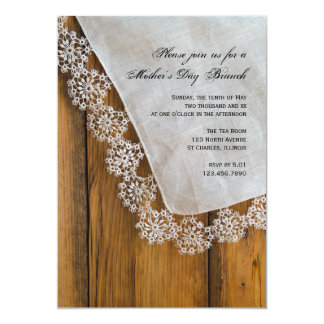 Country Lace Mother's Day Brunch Invitation