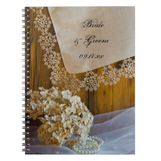 Country Lace Wedding Spiral Notebook