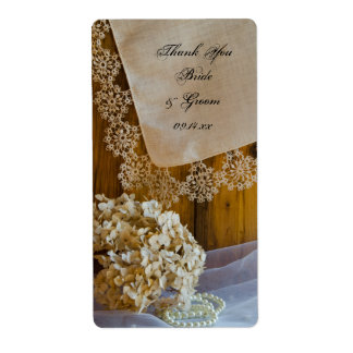 Country Lace Wedding Thank You Label