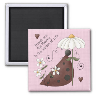 Country Ladybug Friends Magnet
