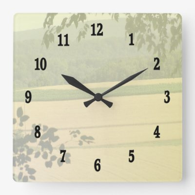 Country Land Wall Clock