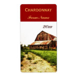 Country landscape with dilapidated barn personalized shipping labels