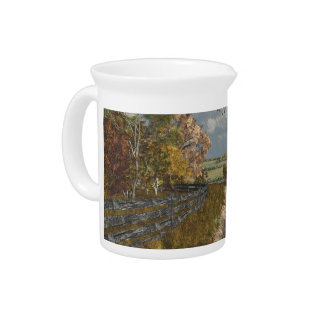 Country Lane in Fall Pitcher