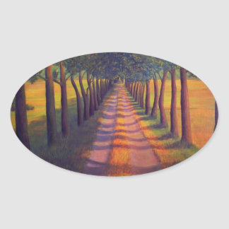 Country Lane Oval Sticker