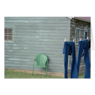 Country Laundry Greeting Card