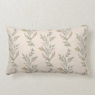 Country Leaf Dreams Lumbar Throw Pillow