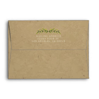 Country Leaves Envelope