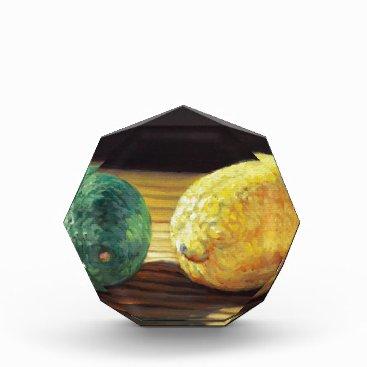 Beach Themed Country Lemon and Lime Acrylic Award