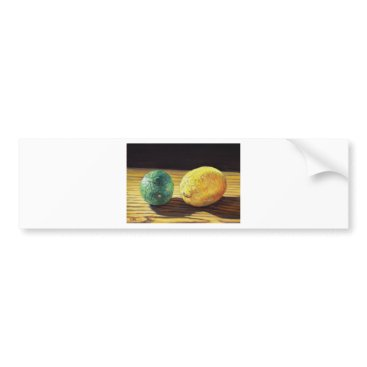Beach Themed Country Lemon and Lime Bumper Sticker