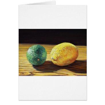 Beach Themed Country Lemon and Lime Card
