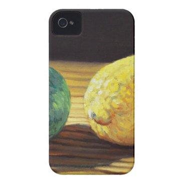 Beach Themed Country Lemon and Lime iPhone 4 Case