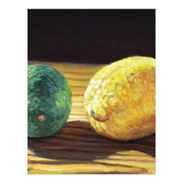 Beach Themed Country Lemon and Lime Letterhead